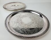 2lot 12 Epc Silver Serving Tray 5/165 And 10.5 Reed And Barton Silver Plate 1201