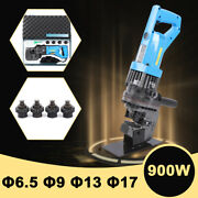 New Electric Hydraulic Hole Punch Mhp-20 W/ Steel Local Metal Die Set 5 Molds