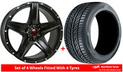 Alloy Wheels And Tyres 20 Tomahawk Apache For Jeep Wrangler [mk4] 18-20