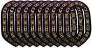Masonic Oes Order Of Eastern Star Gold Metal Chain Collar - Lot Of 10