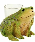 New In Box Jim Shore Frog Candle Holder 6001609