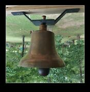 Antique Railroad Train Engine Yellow Solid Brass Bell