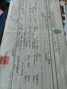 A7e Marriage Certificate 1932 Hammond Hall Enderby Leicester Folded