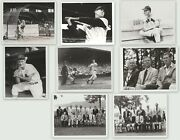 Lot Of 8 Vintage Baseball Photos 8x10 Blk And White 1980and039s Reprints Variety 1
