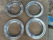 1955 1956 1957 Chevy Truck Cameo Wheel Beauty Trim Rings Deluxe Set Of 4