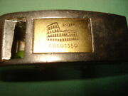 Vintage Metal Double Whistle Key Chain Perfect Made In Italy Rare