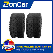 2x Front Rear Lawn Mower Golf Cart Turf Tires Tubeless 18x8.50-8 P512 Zoncar New