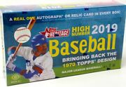 2019 Topps Heritage High Number Baseball Hobby 12 Box Case Blowout Cards