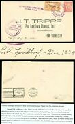 1929 Panama-ny, Charles A. Lindbergh Autographed Pan Am Airways Cover Dk-7-5-21