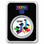 New Tetris Tetrimino Blocks 1 Oz Silver Colorized Round In Tep Very Limited