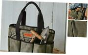 Premium Waxed Canvas Garden, Tool Tote Waxed Canvas Tote