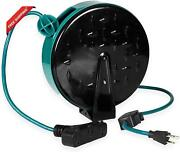 30ft Retractable Extension Cord Reel With Breaker Switch 3 Electrical Power Ou