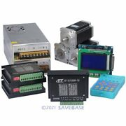 3 Axis Nema24 Stepper Motor 467oz-in Cnc Controller Kit With Display And Keypad