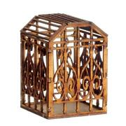 Dolls House Large Bird Aviary Cage Miniature Laser Cut Wooden Pet Accessory