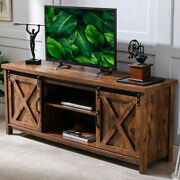 Farmhouse Sliding Barn Door Tv Stand For Up To 65 Television Storage Tv Cabinet