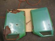 John Deere 420 Side Cover Panels Flaked Paint And Surface Rust Am39221 Am39220