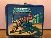 Vintage 1983 Aladdin He-man Masters Of The Universe Metal Lunchbox With Thermos