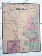 Antique+ Very Old Stratton Vermont Map 11x14 County History Sadawga Springs Vt