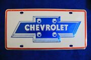 Chevy Bowtie Small Hole Dealer Front License Plate Topper Fits Truck Vette Ss Gm