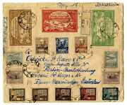 Russia 1923 Moscow / Berlin Magnificent Colorful Multi Franked Cover Vf And Rare