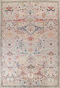 10and039x14and039 Vegetable Dye Floral Ziegler Oriental Area Rug Hand-knotted Large Carpet