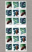 Us Mnh 4485b Holiday Evergreens 2010 Vender Booklet Of 18 Forever Stamps