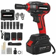 Cordless Impact Wrench, 1/2 Chuck Impact Driver/drill/screws With 3200rpm Red