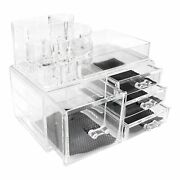 Yzkuang Makeup Organizer Cosmetics And Jewelry Storage Case Display Boxes