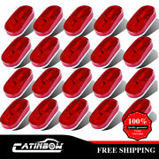 20pc 4 X 2 Red Side Marker Clearance Light 6led Surface Mount Boat Rv Camper