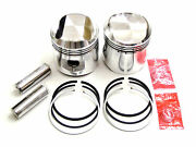 Bsa A65 Pistons Ring Pin 650 Twin Piston .040 A65 Jcc 40 Over Hastings Rings
