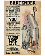 Poster 24x36 Bartender Today Is A Good Day Poster Vintage - No Frame