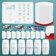 Homsecur Wireless 4g/3g/gsm Lcd Home Security Alarm System+wireless Flash Siren