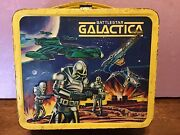 Vintage 1978 Battlestar Galactica Metal Lunchbox With Thermos