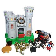 Vintage 1994 Fisher Price Great Adventures Castle Lot - Knights, Cannon, Extras