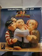Clay Art The 3 Stooges Collectible Cookie Jar. Mint In Box. 1997. Used