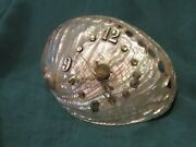 Working Mother Of Pearl Abalone Shell Clock Pearlescent Over 50 Years Old