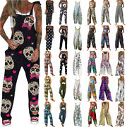 Women Ladies Summer Floral Jumpsuit Baggy Dungaree Overall Rompers Playsuit Pant