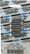 Drag Specialties Bolt Kit M8 Outer Primary Smooth All Chrome - 2401-0990