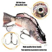 Multi Joined Robotic Automatic Fishing Lures Wobbler Rechargeable Swimbait Fish