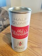 Vtg 1962 Old Milwaukee Beer 16oz Flat Top Quart Can Empty Rare