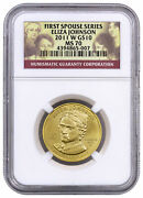 2011 W Eliza Johnson First Spouse Gold 10 Coin Ngc Ms70