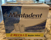 Mentadent Crystal Ice Advanced Cleaning Fluoride Toothpaste 2 Refills Néw
