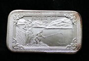 1973 Fathers Day Art Bar Fishing 1 Oz .999 Fine Silver Mother Lode Mint