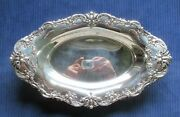 Reed And Barton Sterling 293 Bread Tray Old Heavy Floral And Fruit Swags