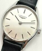 Longines Watches Ladies Manual Winding Stainless Silver Used Vintage