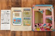 Rare Epoch Triple In Disney Characters Micky Lsi Lcd Game Retro Handheld Vintage