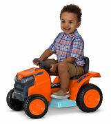 Kid Trax Mow And Go Lawn Mower Toy 6 Volt Ride On Toy Ages 18 To 30 Month Orange