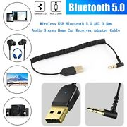 Bluetooth 5.0 Aux 3.5mm Wifi Audio Stereo Home Car Usb Receiver Adapter Cable Cp
