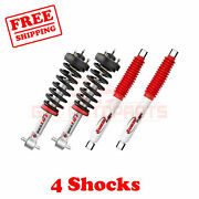 Kit Of 4 Rancho Front And Rear Strut Rs5000x Shocks For 07-18 Sierra 1500