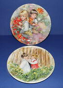 Wedgwood 2 Collectors Plates My Memories By Mary Vickers 8.25 21cm Diam